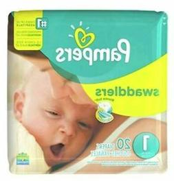 6 Pks ..Pampers Swaddlers Diapers 20 Count Size 1  for Newbo