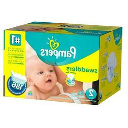Pampers Swaddlers Size 2 Diapers Economy Plus Pack - 186 Cou