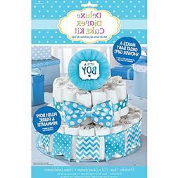 """It's a Boy"" Deluxe Diaper Cake Decor Kit | Baby Shower"