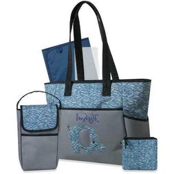 Personalized 5 in 1 Diaper Bag set -Blue Elephant - FREE Shi