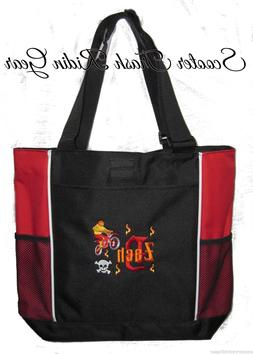 PERSONALIZED RED black Motocross Dirt bike Diaper Bag Baby t