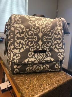 petunia pickle bottom Chenille Boxy Backpack Earl Grey 1 One