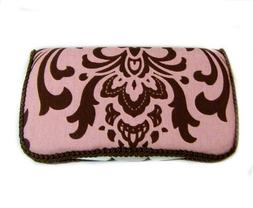 Pink damask Diaper baby wipes case