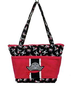 pirate baby shower first mate tote bag