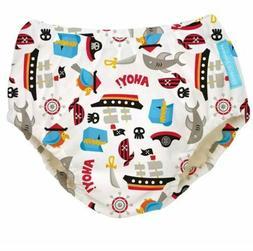 Charlie Banana Pirate Reusable Easy Snaps Swim Diaper M 13-2
