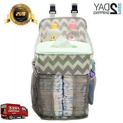 Playard Diaper Caddy Hanging Organizer, Crib for Newborn Bab