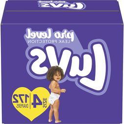 Luvs Pro Level Leak Protection Disposable Baby Diaper, Size