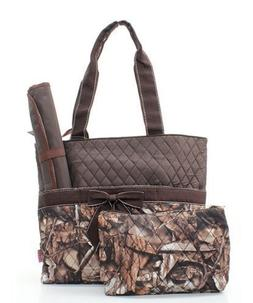 Quilted BNB Natural Camo 3pc Diaper Bag Set