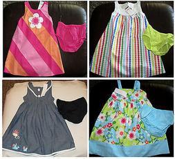 rainbow cabana dress and diaper cover nwt