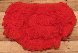 Red Lace Petti Bloomers Diaper Cover  3-9M, 9-18M, 18M-3T