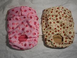 Reusable 2pk Diapers for Female Dogs/Spider Monkeys
