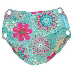Charlie Banana Reusable Easy Snaps Swim Diaper, Floriana, La
