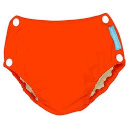 Charlie Banana Reusable Easy Snaps Swim Diaper, Fluorescent
