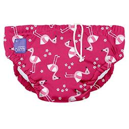 Bambino Mio Reusable Swim Diaper, Pink Flamingo, Small