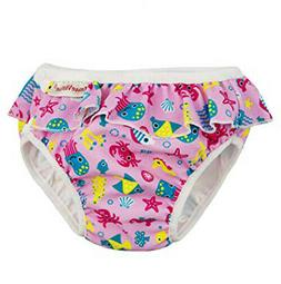 ImseVimse Reusable Swim Diaper for Baby and Toddler Girls wi