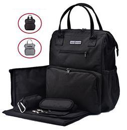 Sale!!! Rascal Gear Black Baby Diaper Bag Backpack, Tote, Sh
