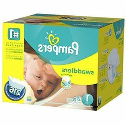 Pampers Disposable Diapers Swaddlers Newborn Size 1  216 Cou