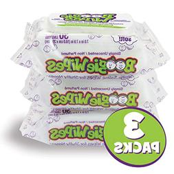 Boogie Wipes Unscented Soft Natural Saline Wet Tissues for B