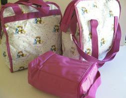 Set 3 New Vtg Ross Labs Similac Diaper Bag, Carry Tote, Bott