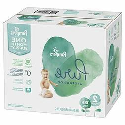 Size 2, 186 Count - Pampers Pure Disposable Baby Diapers ONE