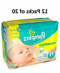 size newborn swaddlers diapers 240 count case