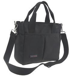 Daddy Diaper Bag Small Black Mini Tote Messenger for Men Wit