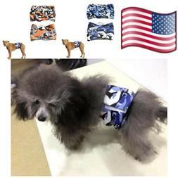 Small Diapers For Dogs Camouflage Washable Belly Band Nappy