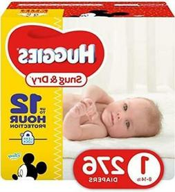 Huggies Snug & Dry Baby Diapers, Size 1, 276 Count NEW