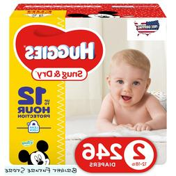 Huggies Snug & Dry Baby Diapers Size 2 246 Count