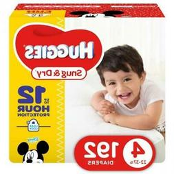HUGGIES Snug & Dry Baby Diapers, Size 4 , 192 Count,...