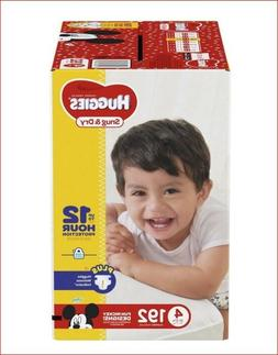 Huggies Snug & Dry Diapers Size 4 192 Count One Month Supply