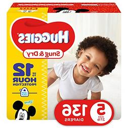 HUGGIES Snug & Dry Diapers, Size 5, 136 Count, GIANT PACK Pa
