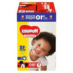 Huggies Snug and Dry Disposable Baby Diapers 180 COUNT Size