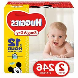 snug dry diapers size 2 246count packaging