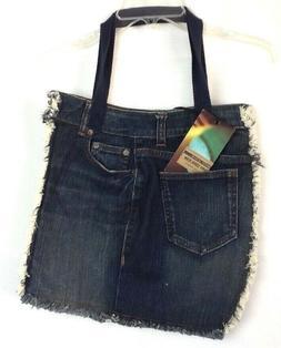 DKNY Soho Jean Denim Bag Purse Handbag Beach Book Diaper Hob