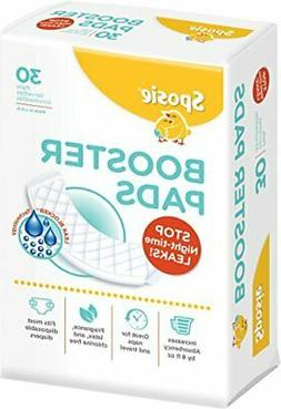 Sposie Booster Pads Diaper Doublers, 30 Pads - For Overnight
