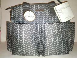 Bananafish Studio Stylish Gray Sienna Diaper Bag