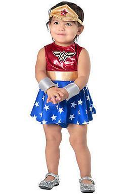 Superhero Wonder Woman Dress and Diaper Cover Infant/Toddler
