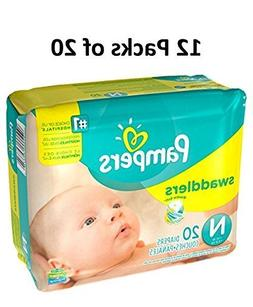 Pampers Size Newborn Swaddlers Diapers, 240 Count