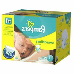 Pampers Swaddlers Diapers Newborn Size 1  216 Count  (Pack