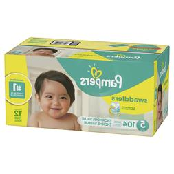 Pampers Swaddlers Diapers, Size 5, 104 Count
