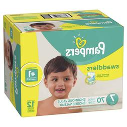 Pampers Swaddlers Diapers, Size 7, 70 Count