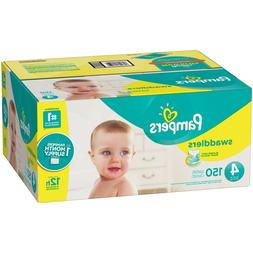 Pampers Swaddlers Disposable Baby Diapers Size 4 150 Count -