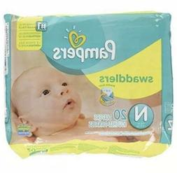 Pampers Swaddlers Disposable Diapers Newborn 2 Packs of 20
