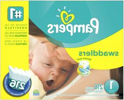 Pampers Swaddlers Disposable Diapers Newborn Size 1 , 216 Co