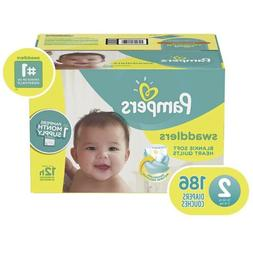 Pampers Swaddlers Disposable Diapers Size 2 186 Count