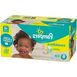 Pampers Swaddlers Disposable Diapers Size 6, 108 Count - FRE