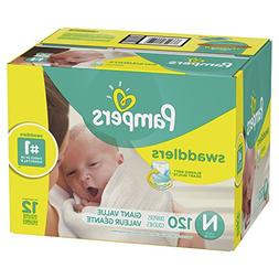 Pampers Swaddlers Disposable Baby Diapers Size Newborn, 120