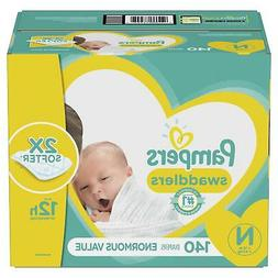 Pampers Swaddlers Newborn Diapers Size N 140 Count