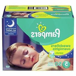 Pampers Swaddlers Overnights Disposable Baby Diapers Size 5,